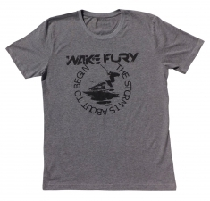 Men's grey slim fit jersey t- shirt | Wakeboarders T Shirt