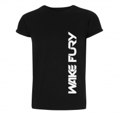 Men's black rolled sleeve t-shirt  | Clothing for Wakeboarders