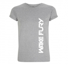 Men's grey rolled sleeve t-shirt | Clothing for Wakeboarders