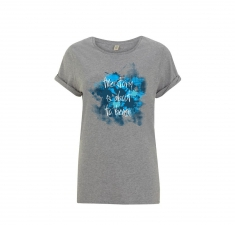 Women's melange grey jersey t-shirt