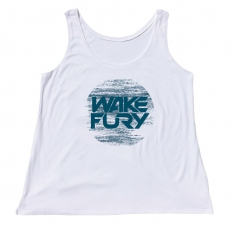 Women's white vest with waves design
