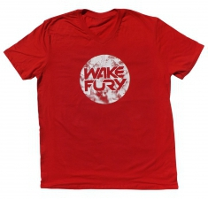 Men's red soft style v neck t-shirt | Wakeboarders T Shirt