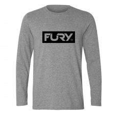 Men's sports grey long sleeve t shirt | Wakeboarders Clothing