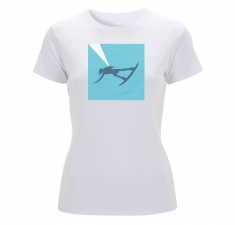 Women's white classic fitted t shirt