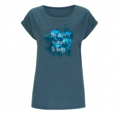 Women's denim blue bamboo jersey t-shirt