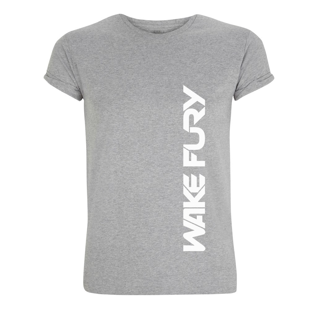 Men's grey rolled sleeve t-shirt