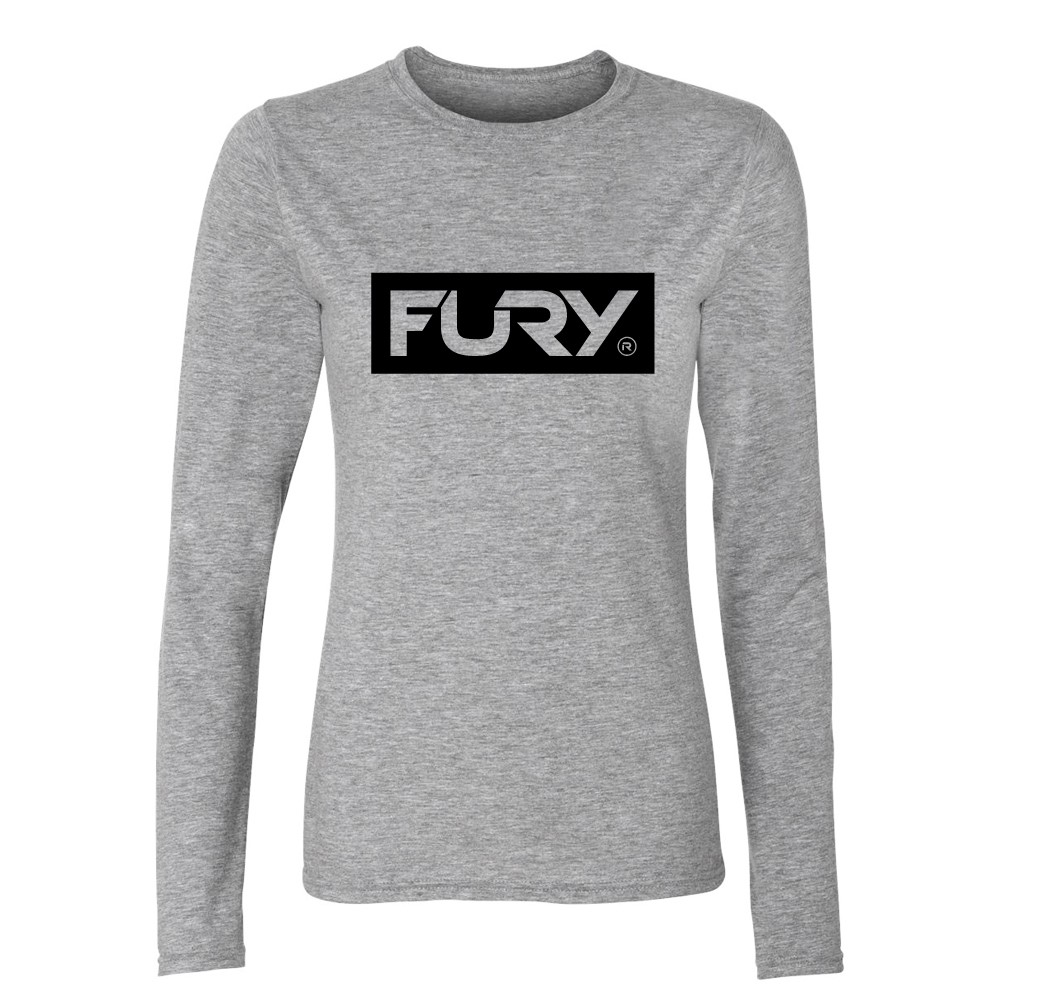Women's sports grey long sleeve t shirt